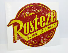 "4.5"" RUST-EZE Distressed Vintage Style Vinyl DECAL, Car Sticker, Rat Rod, Racing"