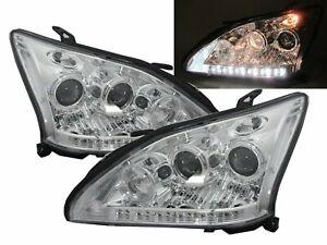 RX330/RX350/RX400h XU30 2003-2009 Dual Projector Headlight CHROME for LEXUS RHD