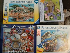 (4)  300 LARGE PIECE JIGSAW PUZZLES