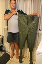SIZE 8 FISHING WADERS CHEST  NYLON/PVC WADERS LUD SOLE BOOT B0108-n