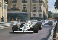 Print on canvas 1980 Grand Prix of Monaco by Toon Nagtegaal (LE)