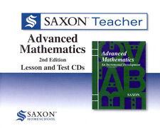 Saxon Teacher Advanced Math 2nd Edition Mathematics Lesson & Test Teach CDs NEW!