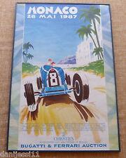 Poster Monaco 1987 Bugatti