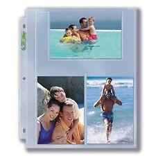(100) Ultra Pro 4x6 Photo Postcard 3-Pocket Album Pages 4 x 6 Binder Sheets