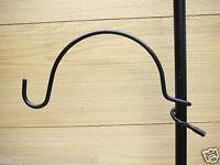 "Erva 12"" Large Radius Coil Hanger for 1"" Pole Quick Connect - Bird Feeder Hanger"