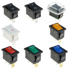 Garneck 5pcs 10A//125V 6A//250V 2 Pin Round Rocker Toggle ON OFF Switch Button for Auto Car And Boat