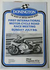 More details for barry sheene signed 1978 rare donnington park programme. tt, ugp, moto gp.