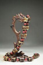 Tibetan prayer worry dzi bead old agate 9 eyes necklace gzi