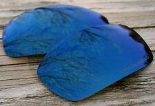 Polarized Navy Blue Mirrored Sunglass Lenses for Oakley Split Jacket - Grey Tint