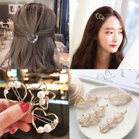Fashion Pearl Hair Clip Hairband Bobby Pin Snap Barrette Hairpin Headdress