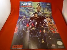 Inindo Way of the Ninja Super Nintendo SNES Foldable Promo Poster Insert ONLY