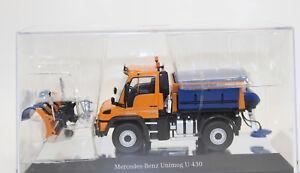 NZG 910/2 Unimog U400  mit Schmidt Winterdienst 1:50 NEU in OVP