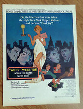 1968 Movie Ad Doris Day Where Were You Lights went Out?