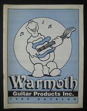 1989 Warmoth Guitar Products Catalog Bass Necks Bodies Pickguards Hardware