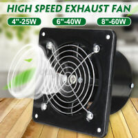 "4/6/8"" 110/220V Inline Duct Booster Fan Ventilation Extractor Exhaust Blower"