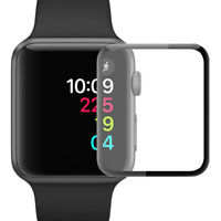 KE_ Curved Tempered Glass Protective Film Cover for Apple- Watch 38/40/42/44mm