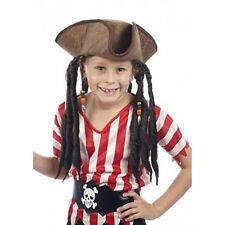 Deluxe Child Pirate Hat With Attached Dreadlocks - Kids Accessory