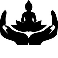 BUDDHA IN HANDS STENCIL - RE-USABLE 9 X 7 INCH