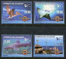 Ecuador 2008 Galapagos Tiere Pelikan Rochen Hai Windräder 3083-86 Postfrisch MNH