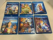 Disney's Pocahontas Aristocrats Cinderella Robin Hood Rescuers  DVD BluRay