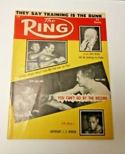 THE RING 1956 TIGER JONES COVER BOXING MAGAZINE RARE COOL DECENT CONDITION