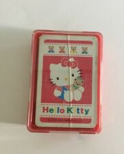 Vintage Sanrio Hello Kitty Mini Playing Cards Used 1992 Poker Cards Red