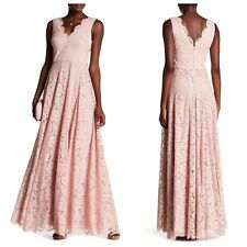 NEW  $448 Vera Wang Double V Lace Gown Color Blush [Size :6 ] #A58