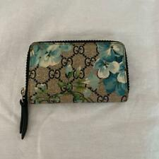 GUCCI Blooms Floral Wallet Coin Case Card Case