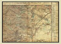 MAP ANTIQUE AUSTRO-HUNGARIAN MILITARY 1872 LIESING REPLICA POSTER PRINT PAM0541