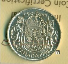 ICCS Canada 1949 - 50cents Coin ; MS-62 ; Cert. No- XMT 265