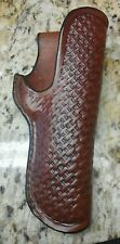 Handmade 1911 Leather Holster stamped in a  Basketweave