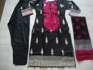Gul Ahmed lawn design  Embroidered stitched  salwar kameez summer clearance £25