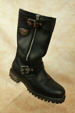 Red Wings Shoes Black Leather Side Zip Buckle Motorcycle Riding Boots Mens 7.5 M