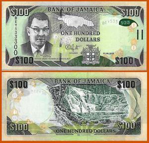 Jamaica P95, $100, Sir Donald Sangster / Dunn's River falls, new year - see UV