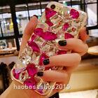 3D Luxury Bling Diamond Rhinestone Case Girls' Soft TPU Back Phone Cover Skin E