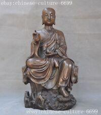 old Chinese bronze Buddhism Jizo Ksitigarbha Bodhisattva Tang Monk Buddha Statue