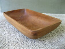 "Vintage Trencher Dough Bowl Primitive Rectangular 16"" x 9"" x 3"" Country Wood"