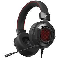 Onikuma K3 Gaming Headset w/ RGB Light Over-Ear Headphones & Noise Canceling Mic