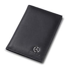 new Mercedes Benz Black Genuine Leather Passport Cover Car Passport ID Holder