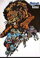 DETROIT LIONS 1968 HOYLE THEME POSTER