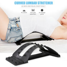 Back Magic Stretcher Lower Lumbar Massage Support Spine Posture Corrector Black