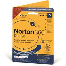 NORTON 360 Deluxe 2021 - 5 Geräte / 1 Jahr / VPN / 50GB Wolke/ Vollversion