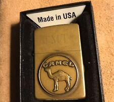 Vintage ZIPPO Brass Lighter Camel Cigarettes Promo ( 1932-1992 ) Engraved TMT