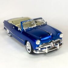 MAISTO Ford 1949 Convertible Special Edition 1/18 Scale Blue Metal Diecast Car