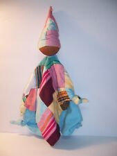 Amani Watoto Patchwork Baby Security Blanket Lovey Doll Handcrafted Kenya