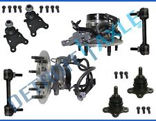 New 8pc Front Wheel Hub & Bearing Suspension Kit w/ ABS - 2WD Coil Spring No Z71