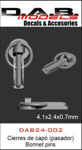 Cierres de capó (pasador) - Bonnet pins 1/43  1/32  1/24 Impresión 3D