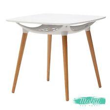 Tavolo Wooden Moderno Bianco con Ripiano Portaoggetti - SPEDIZIONE GRATUITA