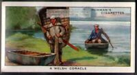 Welsh Coracle Boat England c80 Y/O Ad Trade Card