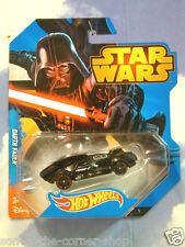 MATTEL HOT WHEELS STAR WARS DARTH VADER CHARACTER CAR IN BLACK REDLINE WHEELS!!